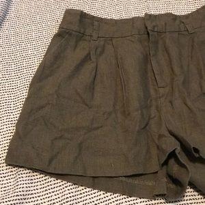 Joie high rise Linen Shorts